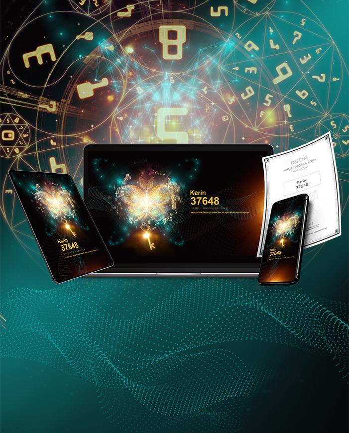 Ključ leptira - digitalni numerički kod za računalo, telefon i tablet
